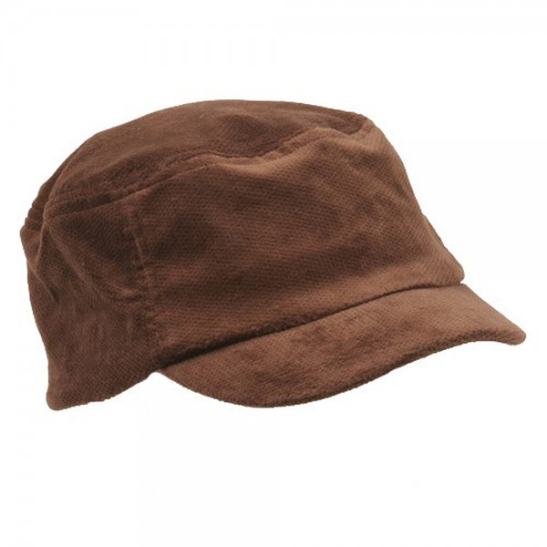 b9540e5afc4 ... Corduroy Fitted Engineer Cap - Brown ...