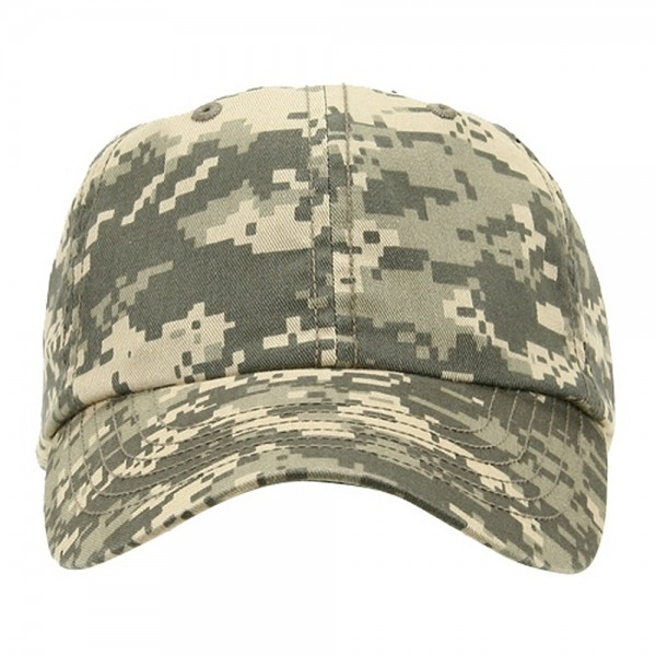 Ball Cap - Digital Camo uflage Enzyme Washed Camo Cap  8f548e3ddec