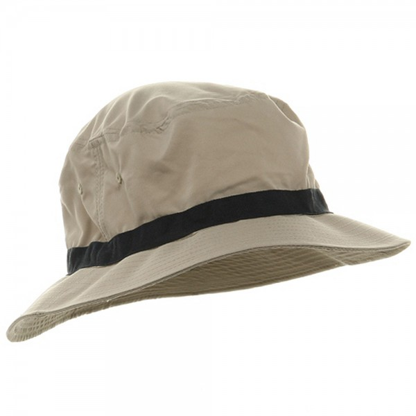 bf5644a2702 ... Oversized Water Repellent Brushed Golf Hat - Khaki Navy ...