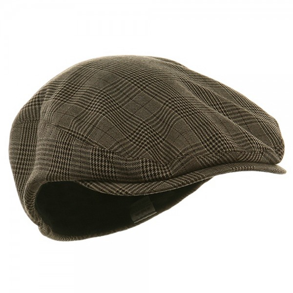 ... Big Size Elastic Plaid Fashion Ivy Cap - Brown ... 0b4fcfa14d8