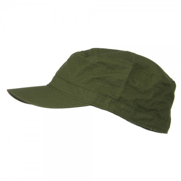Cadet Olive Big Size Cotton Ripstop Army Cap Coupon