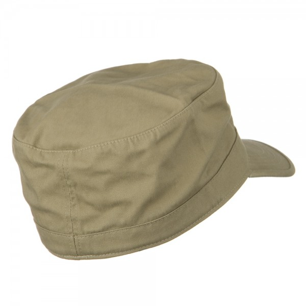 ... Big Size Cotton Fitted Military Cap - Khaki ... 8b7f547dc8c
