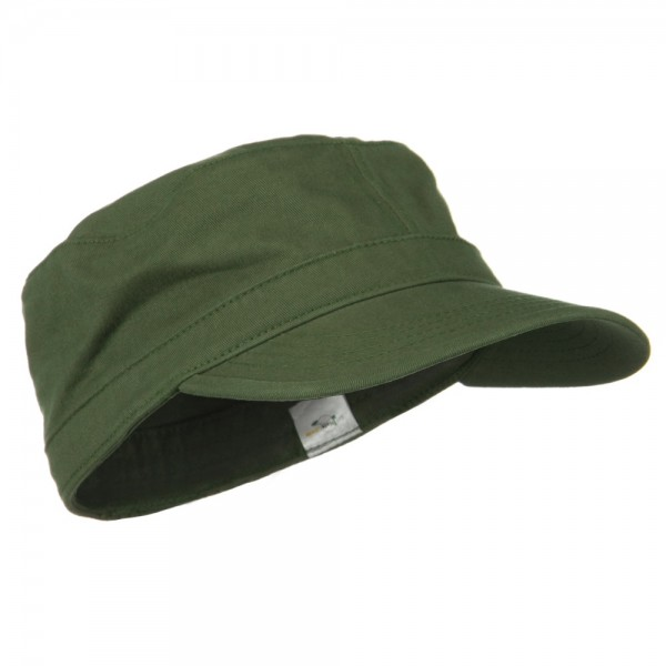 ... Cotton Fitted Military Cap - Olive ... f48d37b5af1