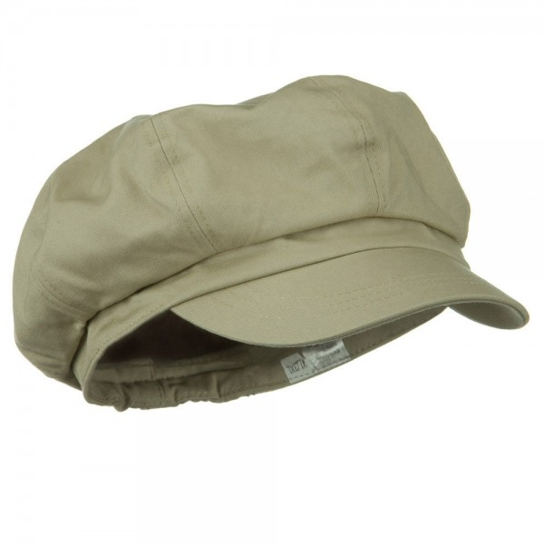 bd230bf5 Newsboy - Khaki Big Size Cotton Newsboy Hat | Coupon Free | e4Hats.com
