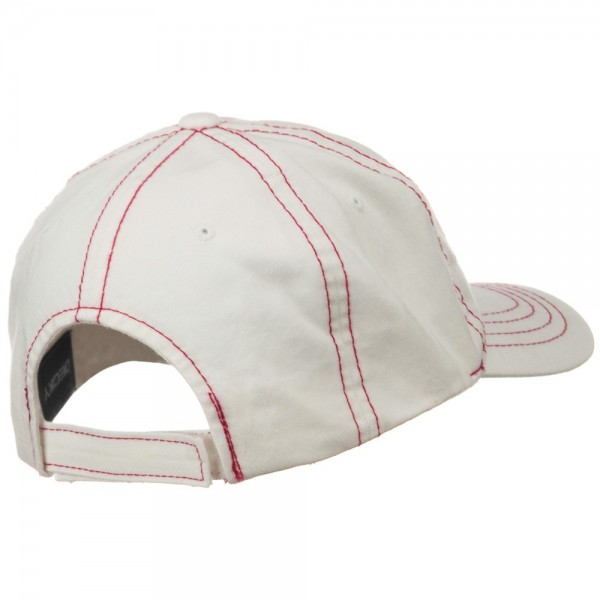 Ball Cap - White Red Contra Stitch Washed Polo Cap  d8692c635a71