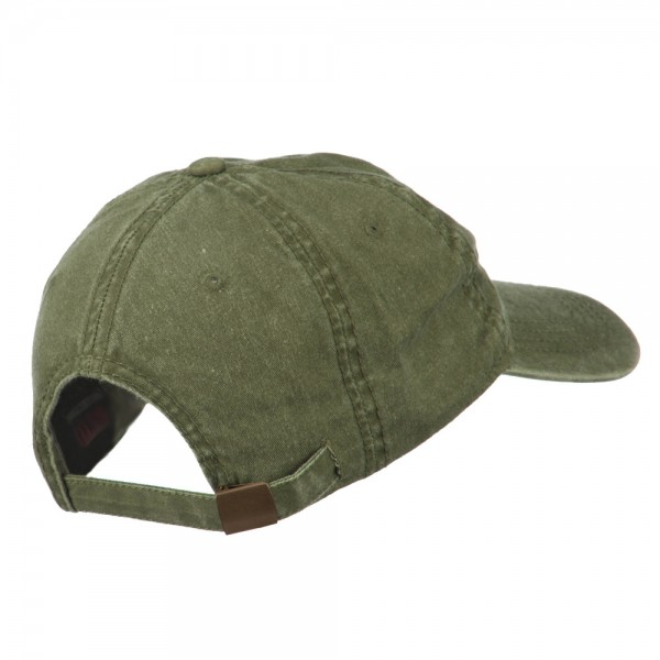 ... American Flag Embroidered Washed Cap - Olive Green ... 6a90256bcab