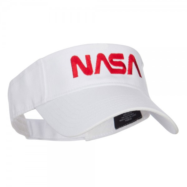 Visor White Nasa Letter Embroidered Visor Coupon Free