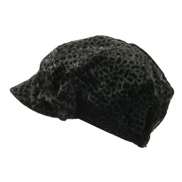 5f75ceb3 Newsboy - Black Animal Print Newsboy Hat | Coupon Free | e4Hats.com