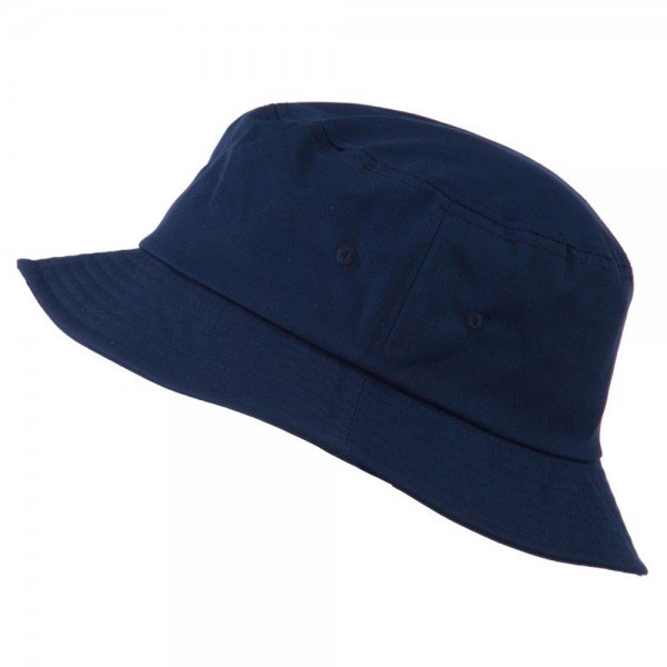 585001a650a ... Big Size Cotton Blend Twill Bucket Hat - Navy ...