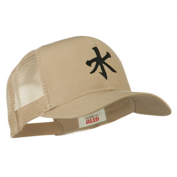 Embroidered Cap Khaki Chinese Water Embroidered Cap E4hats