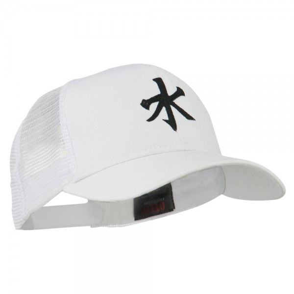 Embroidered Cap White Chinese Water Embroidered Cap E4hats