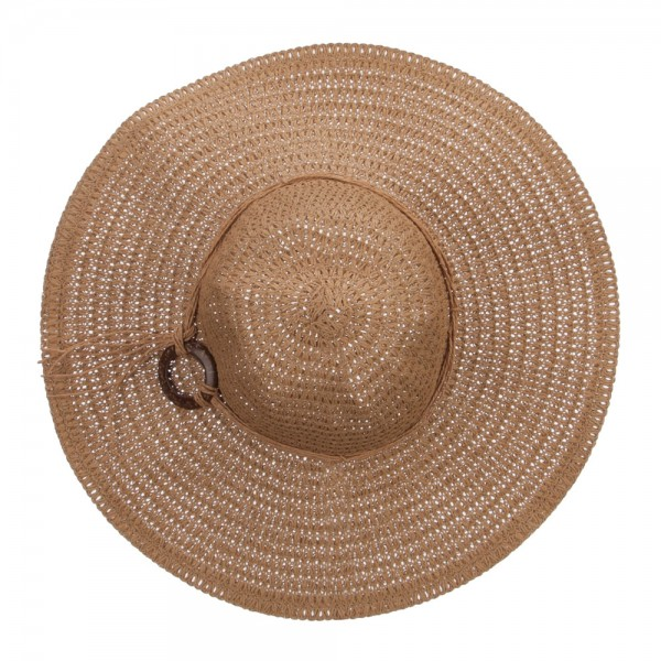 bc4c2c2bc Floppy Hat with Coconut Ring Band - Tan