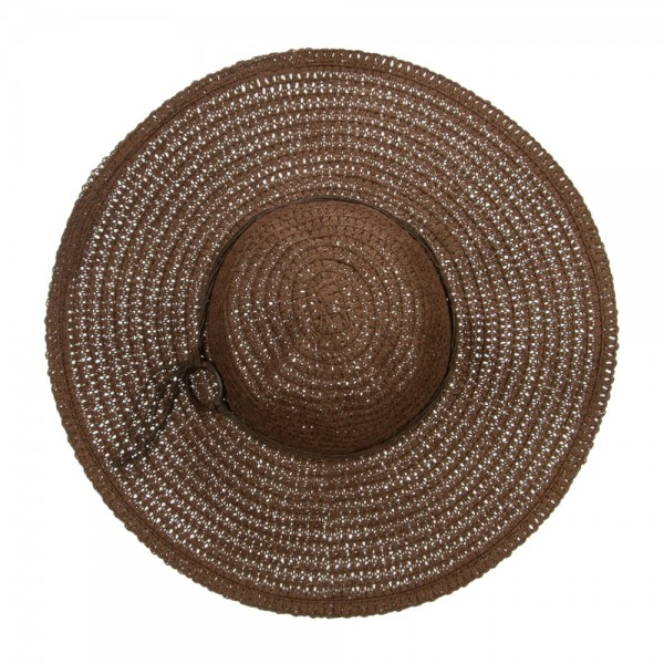 13fe397d0 Floppy Hat with Coconut Ring Band - Brown
