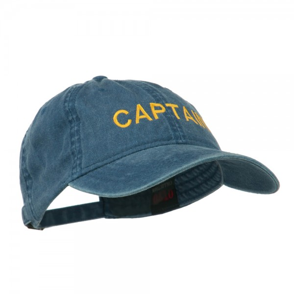 6926e0c0676 Embroidered Cap - Navy Captain Embroidered Washed Cap    e4Hats