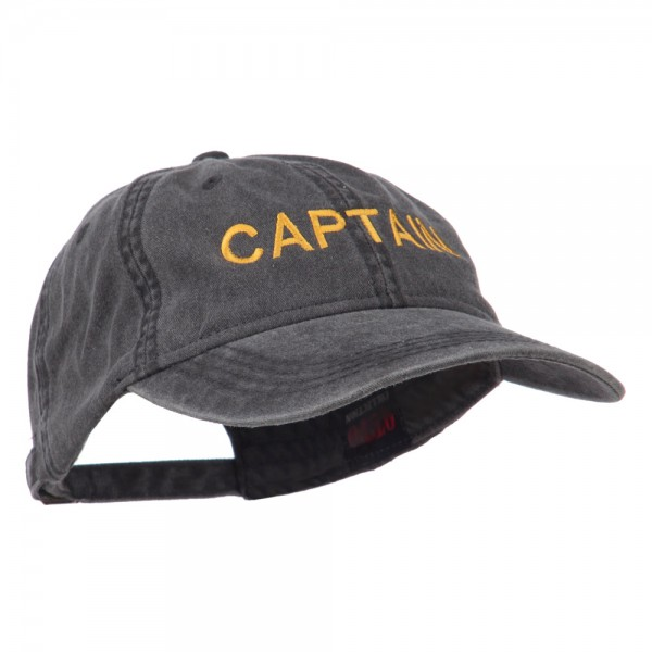 a108cd17c04 ... Captain Embroidered Low Profile Washed Cap - Black ...