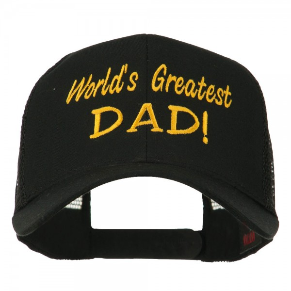 0d2c89d7b World's Greatest Dad Embroidered Mesh Back Cap - Black