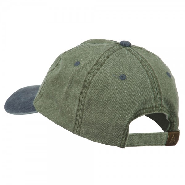 94ee7d626e9 ... Movie Director Embroidered Washed Two Tone Cap - Olive Navy ...