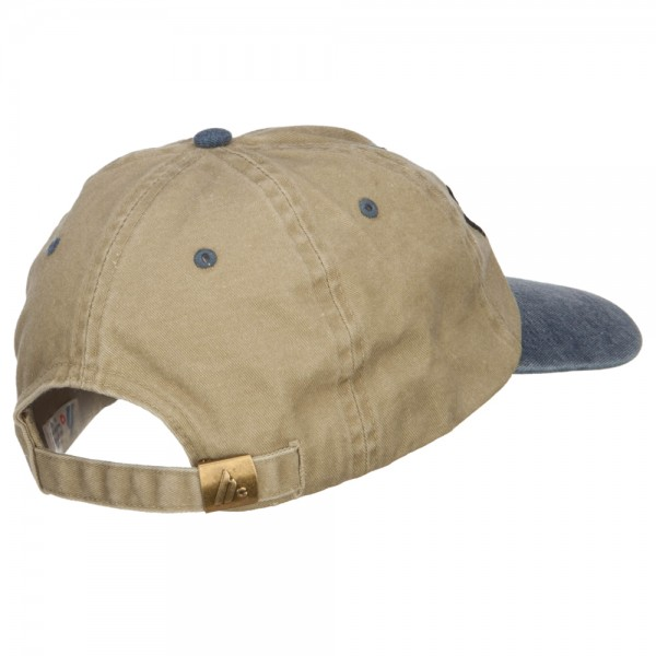 d052ed25dde ... Movie Director Embroidered Washed Two Tone Cap - Khaki Navy ...