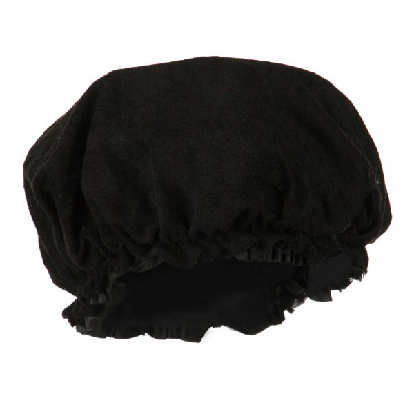 Wrap Black Double Sided Shower Cap Coupon Free