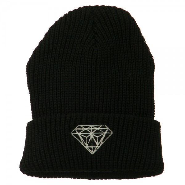 Beanie - Black Diamond Embroidery Watch Cap    e4Hats fbb6080fe