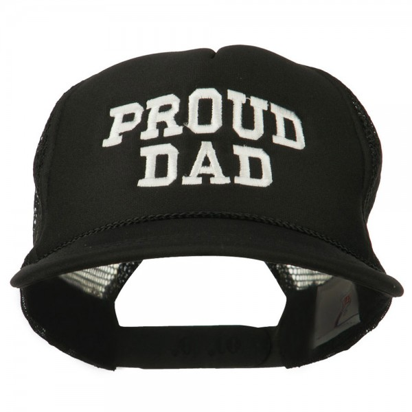 Proud Dad Letters Embroidered Youth Mesh Cap - Black  18.99 ... 0944e81b2bb