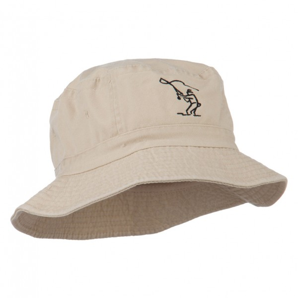 9e9055eb9 Fly Fishing Outline Bucket Hat - Natural