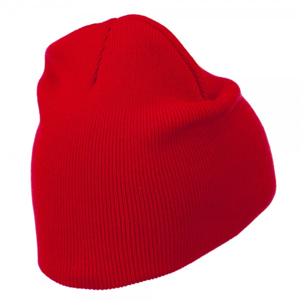 caf5beef891 ... Gold Diamond Embroidered Youth Short Beanie - Red ...