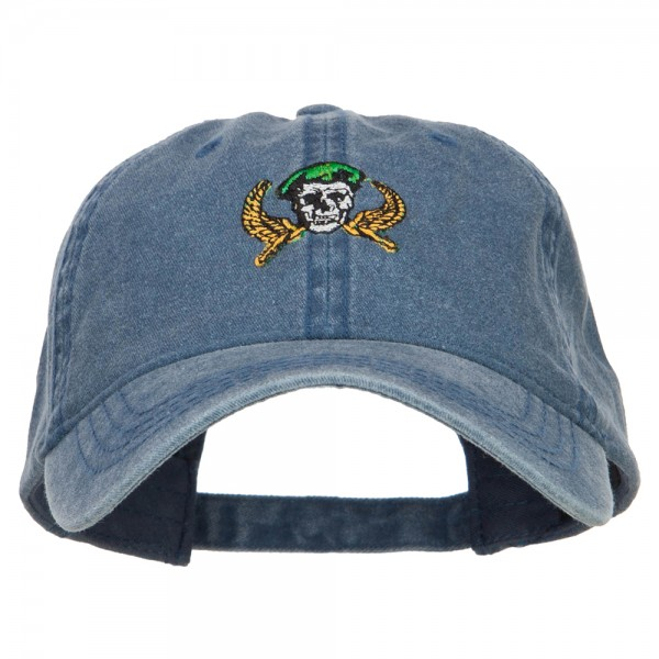 cecd3e1cde14a ... Beret Crest Embroidered Washed Cap - Navy. Navy (View 1) ...
