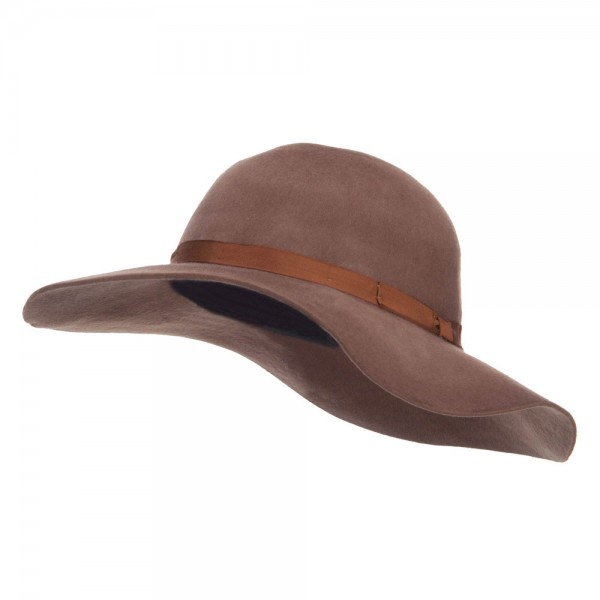 06586df1e708c8 ... Women's Brushed Wool Floppy Wide Brim Hat - Brown. Brown (View 1) ...