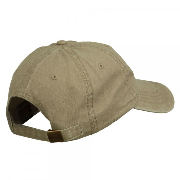 c1459ea0a198d ... Fishbone Embroidered Pigment Dyed Brass Buckle Cap - Khaki ...