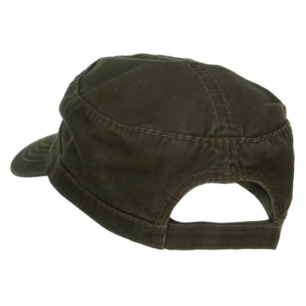 1319a8b7acd ... Infected Embroidered Garment Washed Army Cap - Dk Olive Green ...