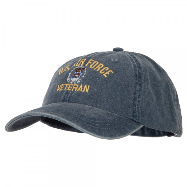 f998f3ed081 ... U.S. Air Force Veteran Embroidered Big Size Washed Cap - Navy ...