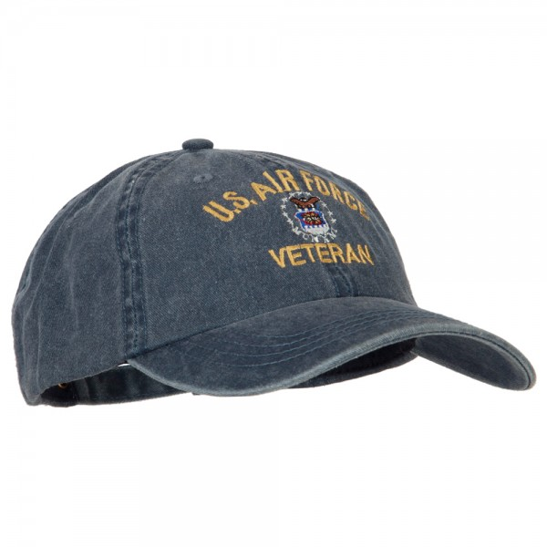 863de9047e1a3 ... U.S. Air Force Veteran Embroidered Big Size Washed Cap - Navy ...