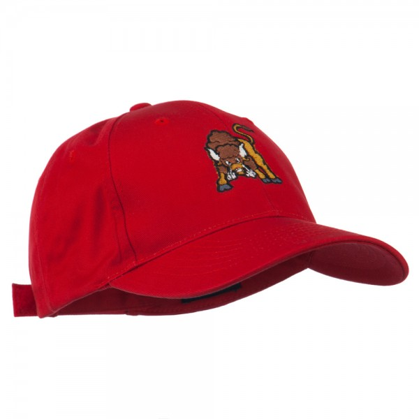 Small Bison Mascot Embroidered Low Profile Cap