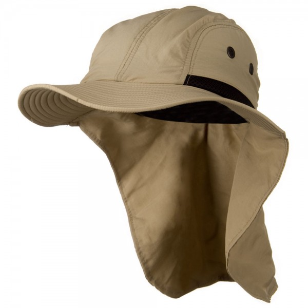 Mesh Sun Protection Flap Hat - Khaki 8e61f9b9594