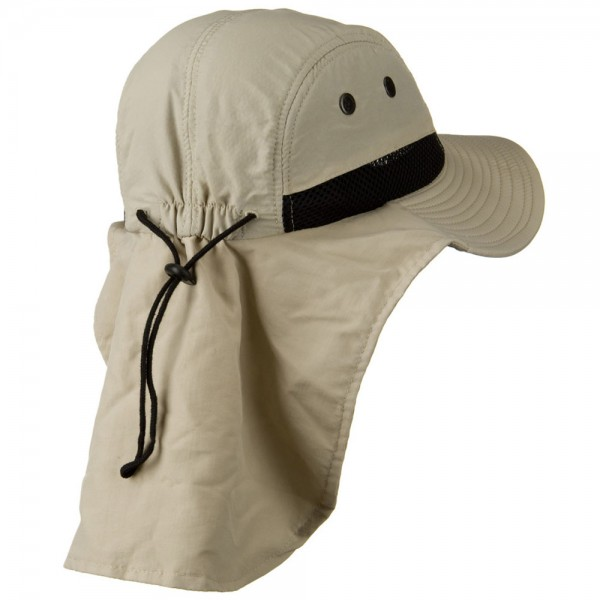 ... Mesh Sun Protection Flap Hat - Sand ... a11ad4590b1