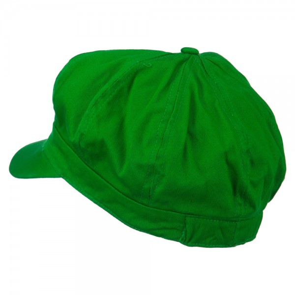 25c2b9bd6 Youth Circle Mario and Luigi Embroidered Cotton Newsboy Cap - Lime