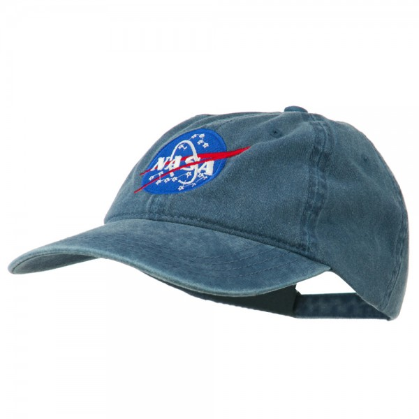 quite nice top design great deals 2017 NASA Insignia Embroidered Pigment Dyed Cap - Navy