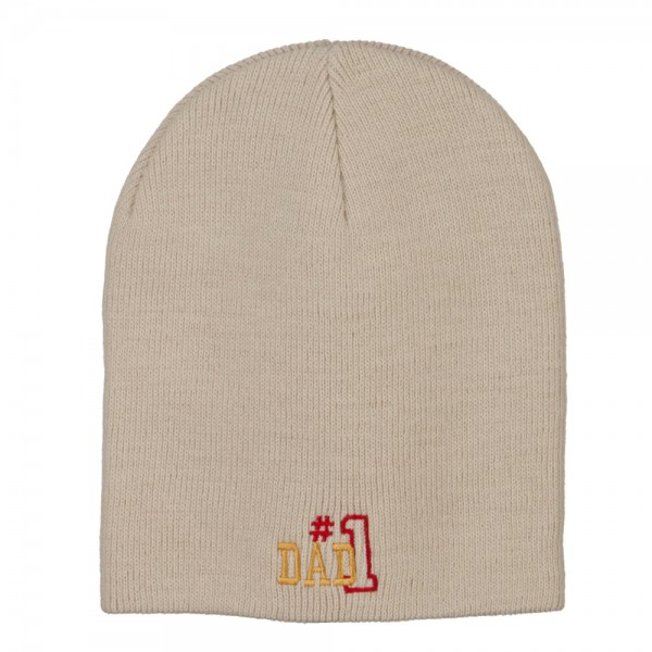 e4Hats.com Number 1 Dad Outline Embroidered Washed Cotton Cap