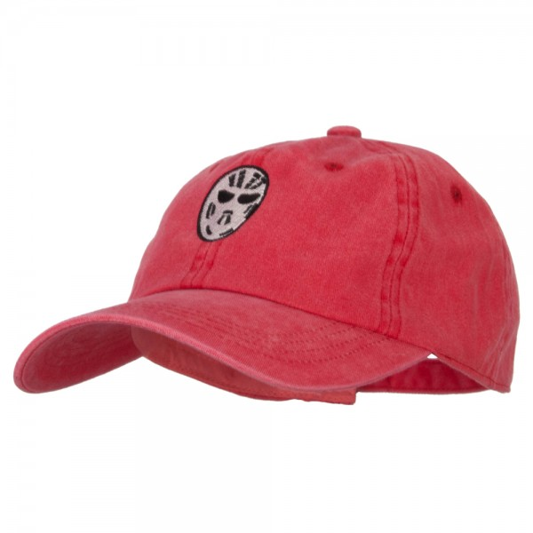 Hockey Mask Costume Embroidered Unstructured Cotton Cap
