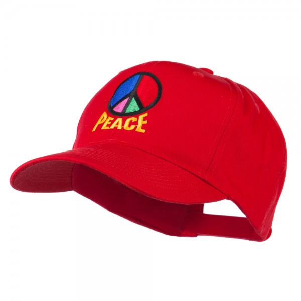 e4Hats.com Peace Symbol Embroidered Washed Cap