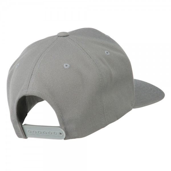 ... Old English P Embroidered Flat Bill Cap - Silver ... 460943b42775