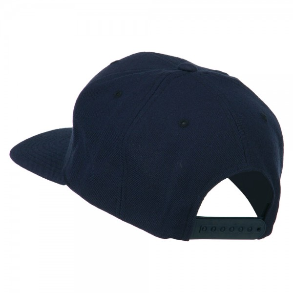 ... Old English R Embroidered Flat Bill Cap - Navy ... 4fca6b87250d