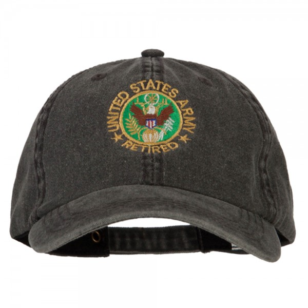 967f2724905 ... US Army Retired Circle Embroidered Big Size Washed Cap - Black. Black  (View 1) ...