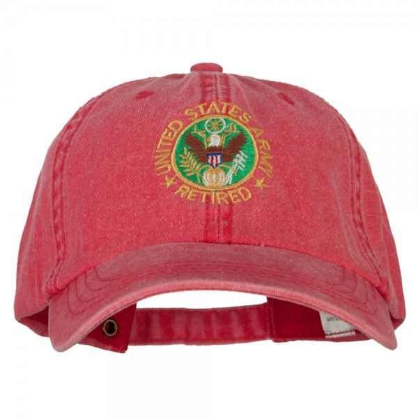 6617f143758 ... US Army Retired Circle Embroidered Big Size Washed Cap - Red. Red (View  1) ...