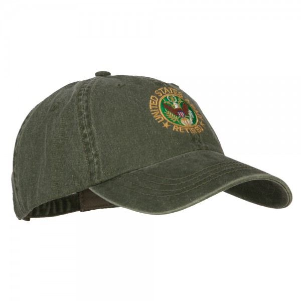 fd4185be575 ... US Army Retired Circle Embroidered Big Size Washed Cap - Olive ...