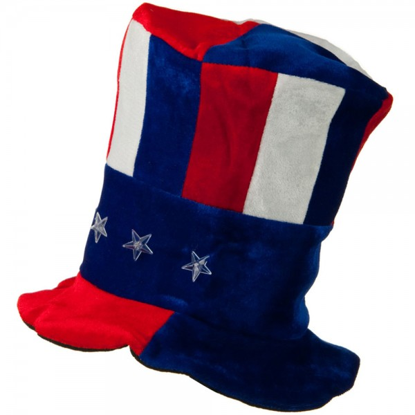 Costume - Red White Blue RWB Tall Hat with Red Light  965526112efc