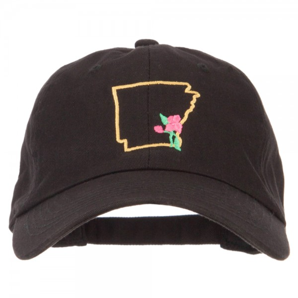 0caaafaeda3 ... Embroidered Unstructured Washed Cap - Black. Black (View 1) ...