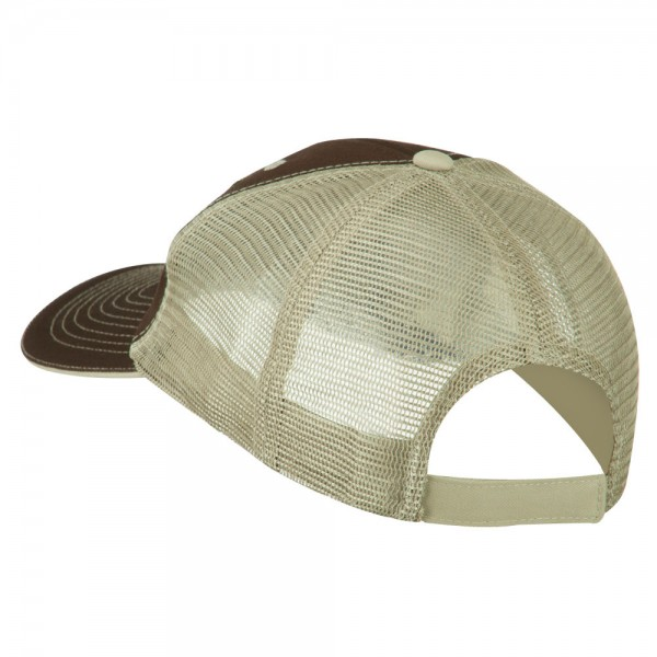 ... Subdued American Flag Patched Big Size Washed Mesh Cap - Brown Beige ... 68dabdc17a7