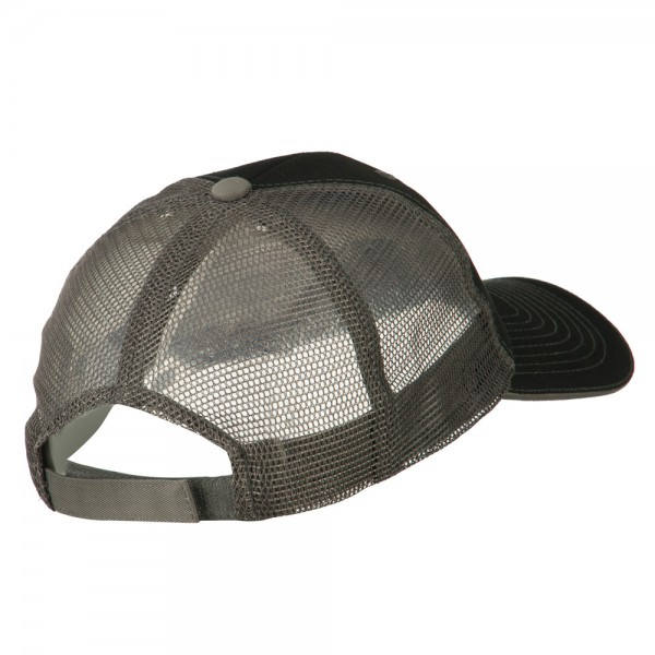 ... Subdued American Flag Patched Big Size Washed Mesh Cap - Black Grey ... a244cb0b1